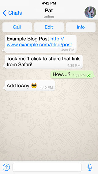 Share links from the web to the Twitter app with AddToAny